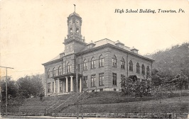 High School w/Clock & Belltower